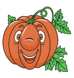 Fresh pumpkin cartoon vector