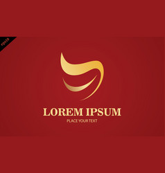 gold dental abstract logo vector image