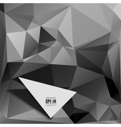 gray black monochrome polygonal background vector image vector image