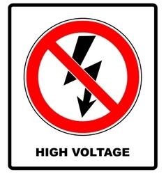 High voltage sign danger symbol black arrow vector
