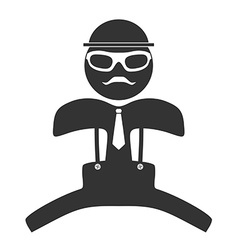 Hipster man jumping icon Isolated on white vector image