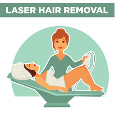 laser hair removal promotional poster with salon vector image vector image