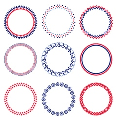 Nautical circle frames vector