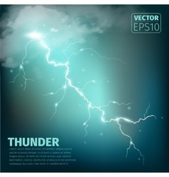 Realistic thunderstorm background vector