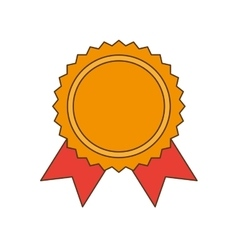 Ribbon award gold medal vector