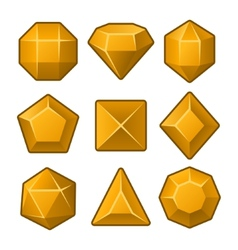 Set of Orange Gems for Match3 Games vector image