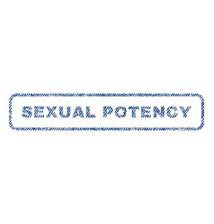 Sexual potency textile stamp vector