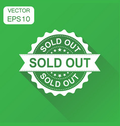 Sold out rubber stamp icon business concept sold vector