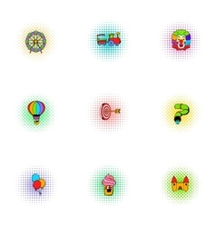 Swing icons set pop-art style vector