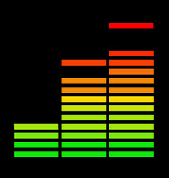 The music equalizer vector