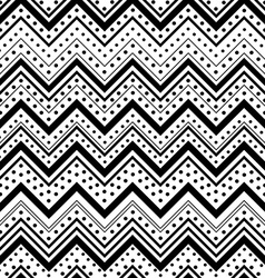 Zig zag seamless pattern with black dots and lines vector image vector image