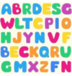 Seamless childrens bright alphabet pattern vector