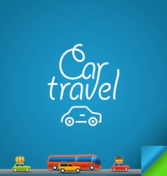 Car travel concept design template vector