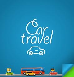 Car travel concept Design template vector image