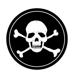 Pirate black mark vector