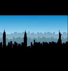 building usa scenery of silhouettes vector image