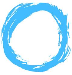 Blue brushstroke circular shape vector