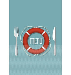 Retro menu design for seafood restaurant variation vector