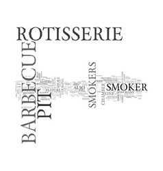 Barbeque pit smoker text word cloud concept vector