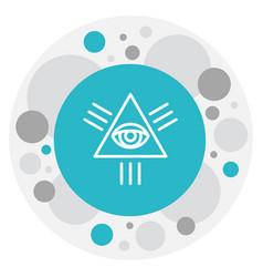 Of faith symbol on eye of vector