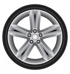 aluminum rim vector image