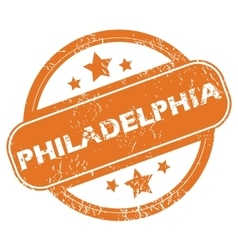 Philadelphia round stamp vector