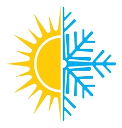 Summer winter air conditioning icon6 vector
