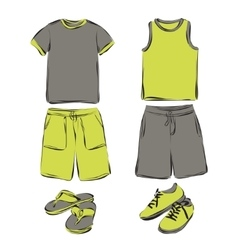 Mens clothes set vector