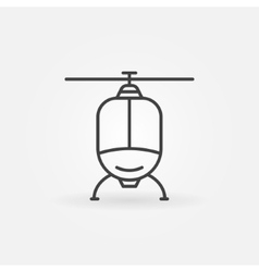 Helicopter linear icon vector