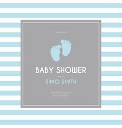 Baby shower background vector