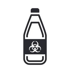 Dangerous bottle icon vector