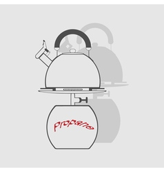 Monochrome icon set with propane tank vector