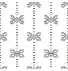 Pattern with butterflies decorative ornament vector
