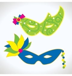 Carnival mask isolated vector