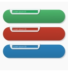 Three bookmarks vector