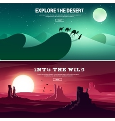 Desert trip extreme tourism and travelling back vector