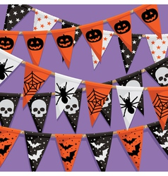 Halloween bunting background vector