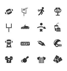 American football icon set vector