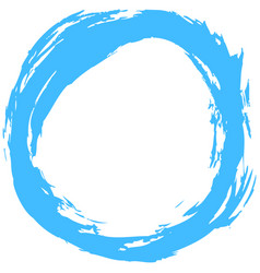 Blue brushstroke circular shape vector