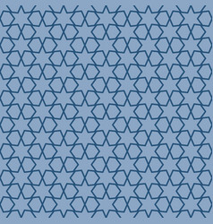 Blue geometric pattern with linear elements vector