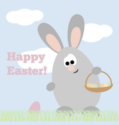 card happy easter vector image vector image