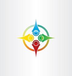 Color compass arrows symbol vector