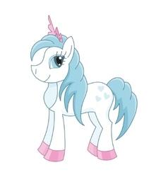 Cute horse princess royal vector