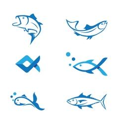 Fish logo template vector image