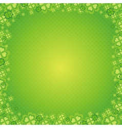 green patrick background with shamrock vector image