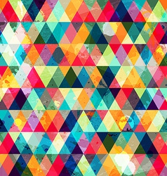 Grunge colored triangle seamless pattern vector