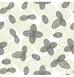 Herbal mint pattern seamless backdrop for tea vector