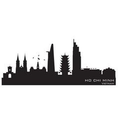 ho chi minh city vietnam skyline silhouette vector image