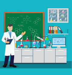 Medical laboratory equipment vector