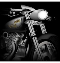 motorcycle closeup vector image